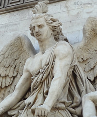 Statue detail of the Arc de Triomphe (eutouring) Tags: arcdetriomphe paris france travel arch arc statue statues detail leresistancede1814 laresistance