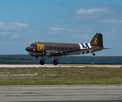 C-47 Take Off (EHPett) Tags: airplane wwii airshow rhodeisland worldwarii douglas skytrain dc3 takeoff dakota propellor 2016