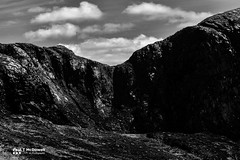 Poisoned Glen (Paul T McDowell Photography) Tags: camera sky people blackandwhite mountain colour nature grass weather horizontal digital season lens landscape photography spring day image time outdoor year ngc sunny places glen orientation fineartphotography blackandwhitephotography countydonegal 2016 republicofireland poisonedglen canonef70200f28lisusm derryveaghmountains landscapephotographer canoneos5dmarkii paultmcdowellphotography paultmcdowell