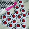 Strawberry Themed Button Badges (koolbadges) Tags: red party summer food cute fruit kids fun strawberry sweet handmade craft tennis eat badge kawaii badges wimbledon favor 25mm keepsake favour pinbadge indiebusiness partybag strawberrybadge ukhandmade koolbadges