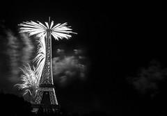 _MG_4725 (Amit Aggarwal0990) Tags: fireworks bastille paris eiffel amit bw night celebration