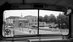 View 'from' the D2! (Jason 87030) Tags: windows bw white black mono volvo town flickr noir cops view tag bbw northamptonshire scene pigs guest filth tossers blanc bastards northants useless stagecoach d2 doubledecker topdeck olympian daventry 16694 r694dnh