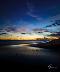 Florida sunset (K. Freese) Tags: florida floridagulfcoast sunset scenery sky summer beach beautiful gulfofmexico gulfcoast clouds water outdoors landscapes ocean seashore shoreline emeraldcoast coast nikon nikonphotography d7100 reflection panamacitybeach travel places longexposure lowlight