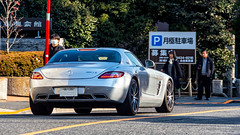 Mercedes SLS AMG (Green 14 Pictures ) Tags: mercedes benz tokyo mercedesbenz tokyotower sls amg dashaus