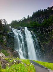 Skjervsfossen (Vidar Karlsen) Tags: europe gnd granvin hordaland nd norway skjervsfossen evening longexposure river summer waterfall
