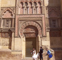 Spain (Cordoba) Wedding photography in front of  Great Mosque Gate (ustung) Tags: spain cordoba wedding photography mezquita gate door arch architecture kodak street candid