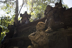 Heavenly (shane.fu) Tags: bali statue trees forest monkey tourist sun air vibe relic old nikon dirt