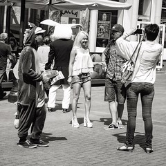 Alice in Wonderland - Who is out of place - Trovate l'intruso #bnw #bn #arbatstreet #arbat #moscow #modca #mockba #bianconiglio #rabbit #whiterabbit #bionda #blonde #streetphotography #streetpeople #streetphoto #biancoenero #picoftheday #blackandwhitephot (acid_nam) Tags: arbat lapin coniglio bianconiglio rabbit whiterabbit aliceinwonderland alicenellepaesedellemeraviglie alice instagramapp square squareformat