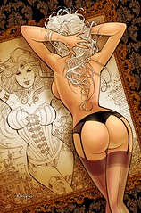 Provocation (JamesGoblin) Tags: french art deviantart artwork poster wallpaper wallpapers posters drawing babe babes curve curves blonde blondes hair hairstyle back behind sexy inspiring inspiration booty boobs boob flower flowers lingerie draw sexappeal