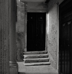 Venice (austin granger) Tags: venice italy steps columns light door doorway portal austingranger