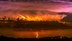 Lighting the Sky (Carl Cohen_Pics) Tags: santanmountain night nightsky nightphotography lightning sacaton arizona summer canon clouds nubes monsoon