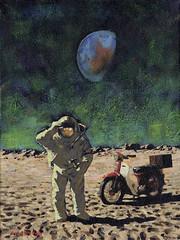 110927 (kevinmcsherryartist) Tags: moon moonshot spaceman astronaut cosmonaut honda 90 club 50 hammer earth space apollo dublin irl