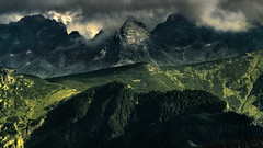 The frontier (piotrekfil) Tags: nature landscape mountains sunset clouds darkness twilight dusk pentax poland piotrfil