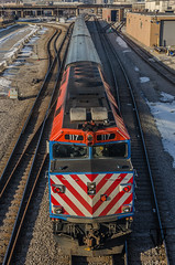 Heading into town. (photo-engraver1) Tags: railroad chicago train illinois transportation metra trainspotting emd f40ph3