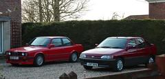 G609 VFJ (1) & J37 RPM (1) (Nivek.Old.Gold) Tags: ford bmw 1992 1990 escort lx 5door 2door 318is 1392cc