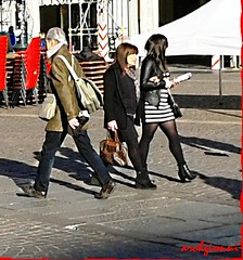 sedie impilate (archgionni) Tags: street girls people square torino strada gente chairs piazza turin sedie ragazze