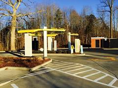 Trees, Arcadia, NC, 2015 (Tom Powell) Tags: yellow echoes patterns cellphone northcarolina mcdonalds arcadia 2015 davidsoncounty appleiphone6