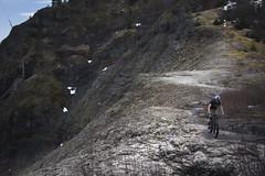 Adam riding the brink (gabriel amadeus) Tags: mountain saint bike forest bicycling volcano washington pacific northwest mountainbike abraham canyon nationalforest mount trail mtb ape helens plains pnw sthelens singletrack