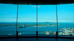 World Where You Live (4oClock) Tags: city blue newzealand summer sunshine bay nikon downtown view auckland skytower devonport rangitoto