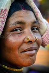 Adivasi Woman, Bastar, Chhattisgarh (Simon Spicknell) Tags: portrait nikon streetphotography photojournalism tribal jewellery nosering tribe reportage indigenouspeople travelphotography nosestud documentaryphotography adivasi