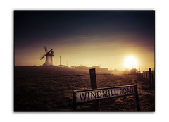 Morning Mist at Ballycopeland (RonnieLMills) Tags: ballycopeland windmill moss road millisle early morning mist sunrise sign hazy light shadow cross processed barbed wire fence county down northern ireland niklon d90 tamron 1024 lightroom 5 greatphotographers autofocus