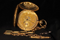 Hugh Mackey's Watch (Piedmont Fossil) Tags: english drive antique watch chain timepiece pocket fusee robertroskell