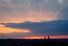 god rays (laughlinc) Tags: fairmountpark laughlinc lightroom lightroom5 nebraska nikond80 omaha skyline sunrays sunset nikon