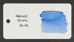 Parker Quink Blue - Word Card
