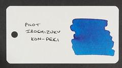 Pilot Iroshizuku Kon-Peki - Word Card
