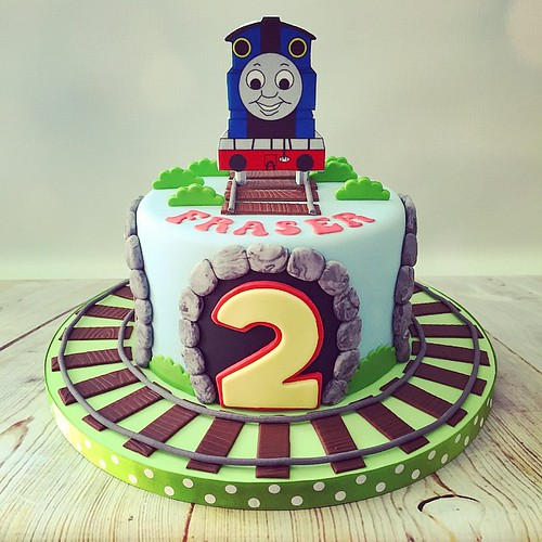 Excellent Todays Cute Little Thomas The Tank Engine 2Nd Birthday Cake Funny Birthday Cards Online Eattedamsfinfo