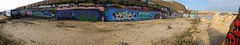 Black Rock graffiti panorama (Lord Cogsby) Tags: panorama black rock graffiti alf etc phew mods noma pleb kaden syn fms niser chum101 deats ysae dlcs