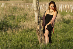 Nickie (austinspace) Tags: sunset portrait woman barn scarf washington spokane dusk farm conservation bellydancer dancer redhead area homestead magichour feryn