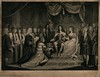 William of Orange, and Mary, his English wife are presented with the crown, by J. Parker (Historystack) Tags: london europe 17thcentury politics religion government february23 modernhistory gloriousrevolution religionandphilosophy kingdomofengland 1680s historyofengland williamiiiofengland jamesiiofengland historyofunitedkingdom year1689