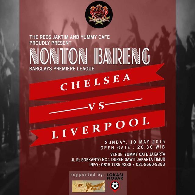 Lokasi Nobar: #LN Nobar @TheRedsJaktim #Jakarta | CFC vs LFC, @Lokasi_Nobar at @YummyCafeJKT 10/5/2015, kick off 22.00, HTM 10.000.