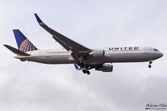 United Airlines --- Boeing 767-300ER --- N668UA (Drinu C) Tags: adrianciliaphotography sony dsc hx100v lhr egll plane aircraft aviation unitedairlines boeing 767300er n668ua 767