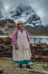 Lightning Lucy of Bolivia (justinbastien) Tags: travel portrait mountains female portraits climb outdoor bolivia adventure climbing summit andes ethnic