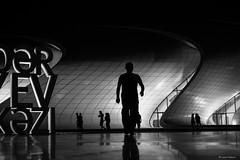 Night in Baku (Laszlo Horvath 1M+ views tx :)) Tags: people bw silhouette nikon baku human baki azerbajian sziluett azerbajdzsn nikon50mm18g nikond7100 heydaraliyevcenter