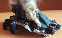 Dal_Delorean_005 (kira_cherkavskaya) Tags: dal delorean doll obitsu rewiged outfitfordoll groove handmade frill blue polkadot  dollsclothes