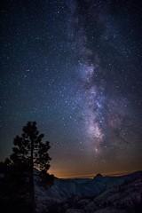 Milkyway over half dome @ Olmstead point,Yosemite. (bkranthi) Tags: california yosemite milkyway olmsteadpoint halfdomeyosemite rokinon24mm