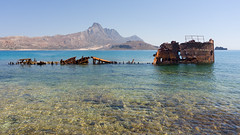 Shipwreck (Jaf-Photo) Tags: gramvoussa crete greece mediterranean shipwreck rust rusty sea sky mountains sun sunshine sunny holiday vacation travel sony ilca77m2 sigma 1224mm xrite colorchecker passport