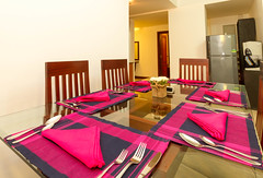 Dining Area (T and V Boutique Apartments) Tags: vacation court hospital apartment budget central rental sri lanka national ceylon accommodation spa colombo groups fully hedges serviced hayleys odel asiri