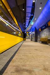 Yellow Motion (Explore #15) (Fabian F_) Tags: motion station yellow canon germany underground subway deutschland essen metro platz ubahn berliner limbecker
