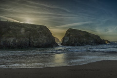 The tale of two Rocks (The Original Happy Snapper) Tags: sunset sea seascape beach nature water rock landscape rocks outdoor