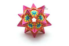 Crystal Star (Akizhi) Tags: art paper origami craft modular kusudama