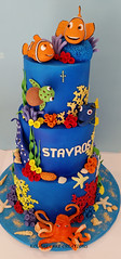 Under The Sea cake for Stavros' Christening (Koulas Cake Creations) Tags: dory nemo 3teir blue hank coral christening