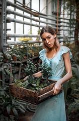 Worker in a botanical garden (dantar90) Tags: portrait beautiful girl pretty atmosferic conceptual eyes worker color light nikon d610 50mm dantar90 begmad