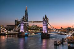 Tower Bridge, London (Nick Moulds) Tags: towerbridge london theshard thames night