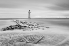 Rushing in (Paul-Farrell) Tags: perchrock lighthouse mono rivermersey merseyside wirral longexposure 10stop ndfilter canon 5dmkiii movement water newbrighton fagsy63 paulfarrell