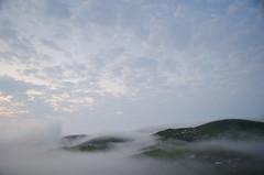 Mountain Gomi (Andgula) Tags: mountain mountainside fog clouds sky houses green landscape nikon outdoor hiking