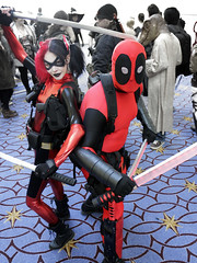 Harley Deadquinny-Pool and Deadpool (greyloch) Tags: katsucon 2016 deadpool harleyquinn mashup otp comicbookcostume comicbookcharacter funny disturbing